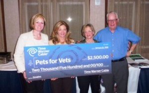 Raising funds for Pets For Vets, Portland Maine.