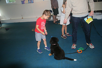 Puppies and children learn together!